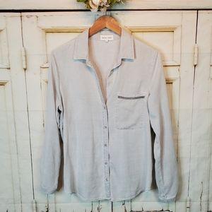 Bella Dahl Grey Buttoned Down Shirt M